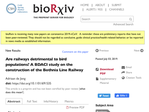 Are railways detrimental to bird populations?